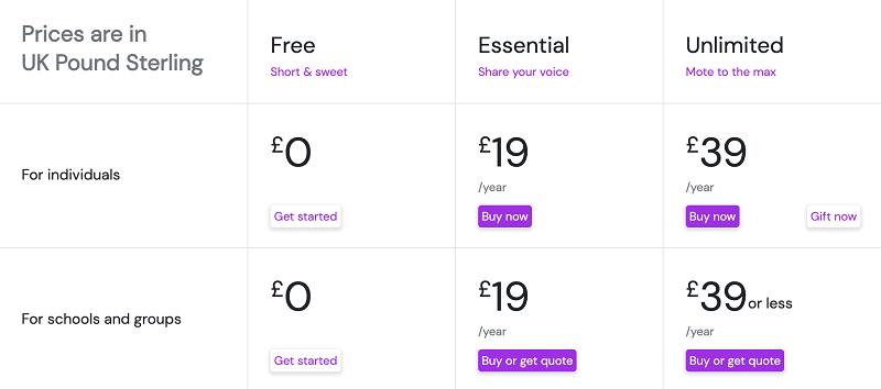 Pricing Mote