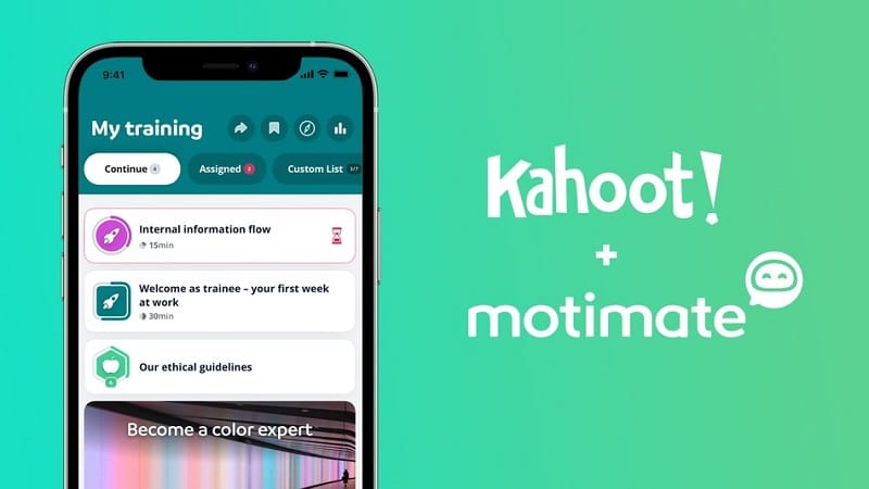 Norwegian EdTech platform Kahoot! acquires Motimate to strengthen Kahoot!'s offerings in employee engagement and corporate learning