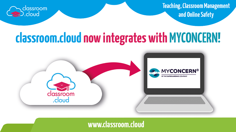 EdTech and online safety platform classroom.cloud now integrates with MYCONCERN